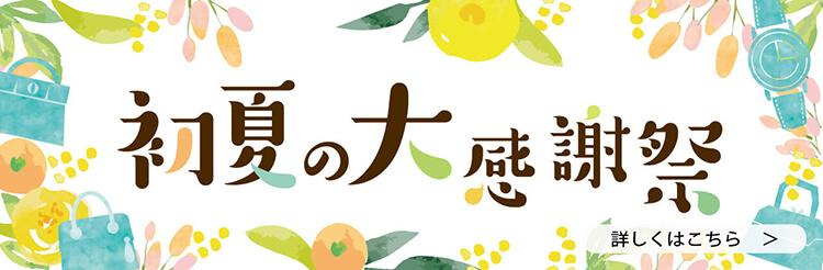 夏はすぐそこ!初夏の大感謝祭開催中